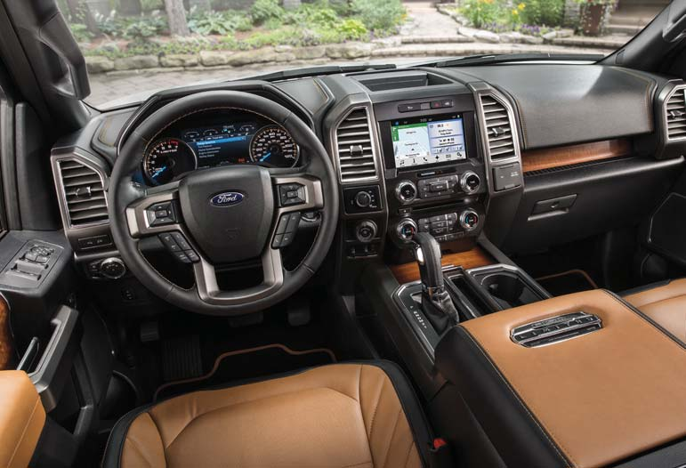 With all the latest in electronics, the fully-equipped Ford F-150 models offer luxury that rivals the top of the line touring sedans and SUVs.