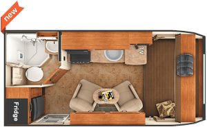 Lance Camper engineers are experts at compact interior floorplans