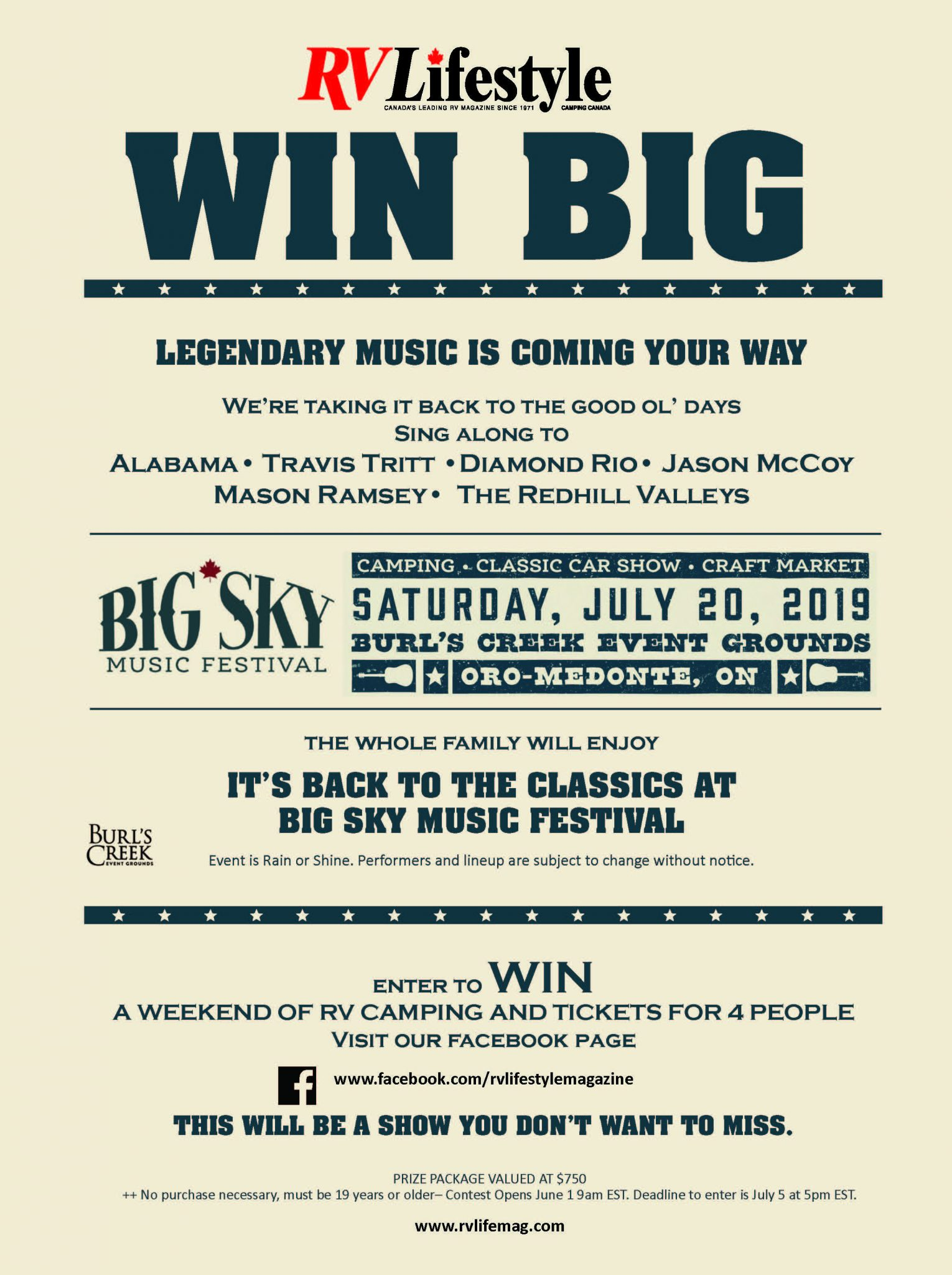 Big Sky Music Festival Contest Rules and Regulations - RV Lifestyle