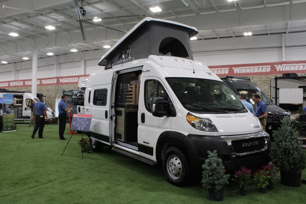 Winnebago Solis van as seen at the elkhart open house.