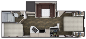The floorplan for the Lance 2445 travel trailer