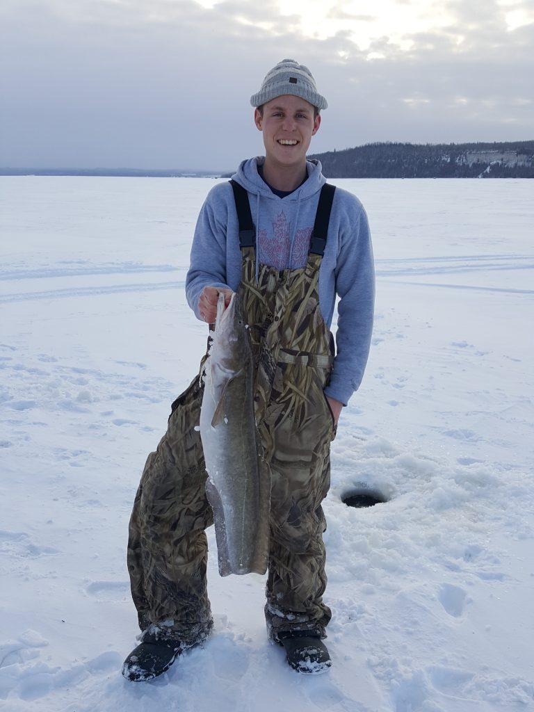 Ling on Sutton Bay, Lake Temiskaming Ice Fishing